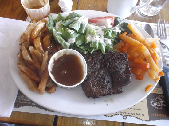 Brasserie de l'Ouest : Mon steak Pirate - 6 août 2013.