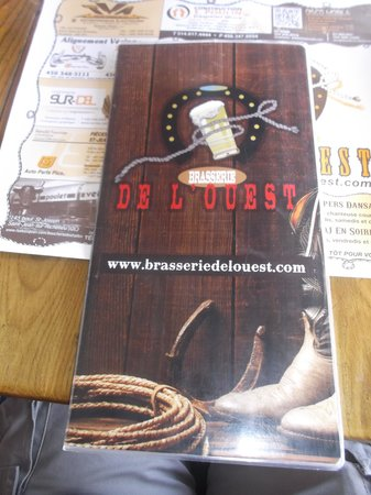 Brasserie de l'Ouest : Le site internet au menu - 6 août 2013.