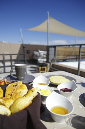 Riad Kasbah 117 Marrakech : Terrasse petit déjeuner