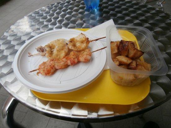 Che Gusto C'e? Rosticceria - Piada e Cassoni : Spiedini & patate