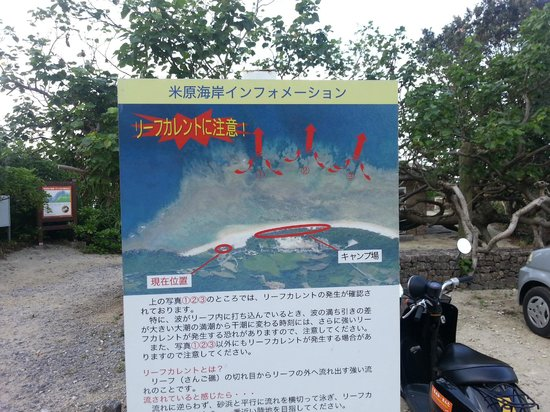 Yonehara Beach : Flow of the current (why it is dangorous today)