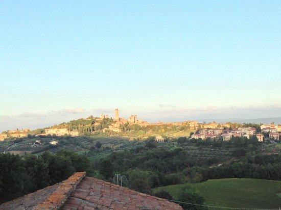 Podere Sant'Elena: Ausblick aus unserem Zimmer