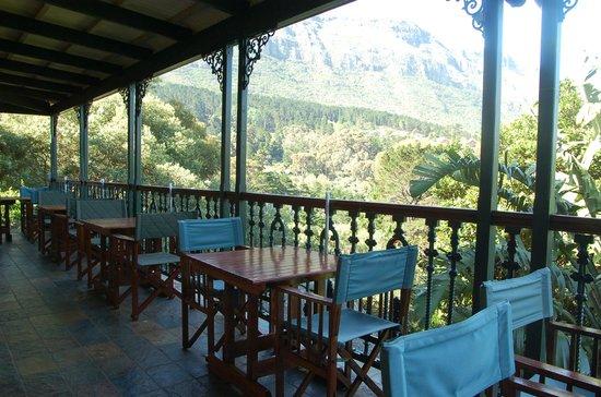 Intaba Lodge: Terrasse
