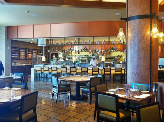 Olives Todd English Dining Area And Open Kitchen At Atlantis Bahamas