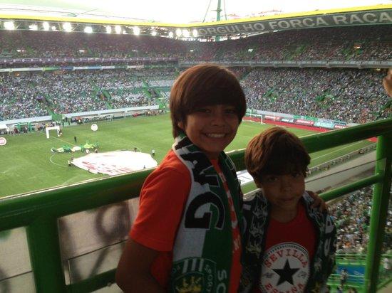 Estadio de Alvalade: Luisfer y Guille en el duelo de Lisboa Sporting vs Benfica 31 Ago 2013
