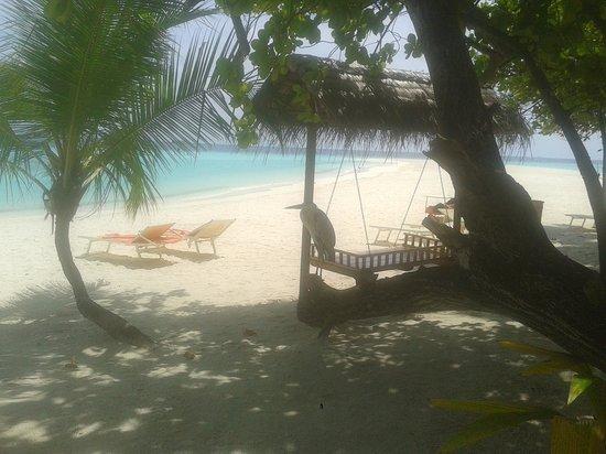 VOI Maayafushi Resort : vista dal beach bungalow 1
