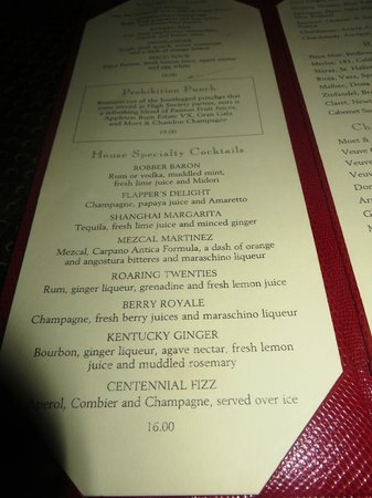 The Menu Picture Of Campbell Apartment Restaurant New York City