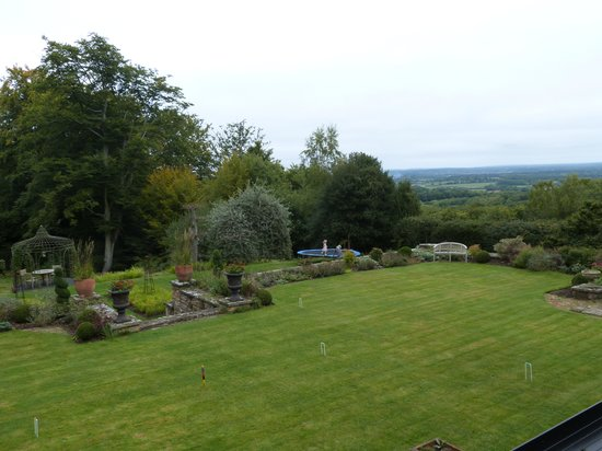 Arundel Holt Court : View from our room - en-suite double