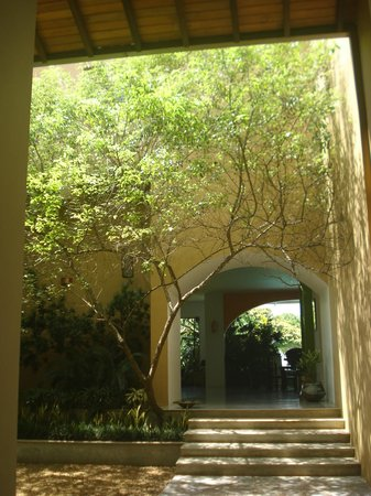 Aditya: Courtyard near entrance