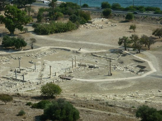 Amathus Ruins: The lower site as seen from the upper site