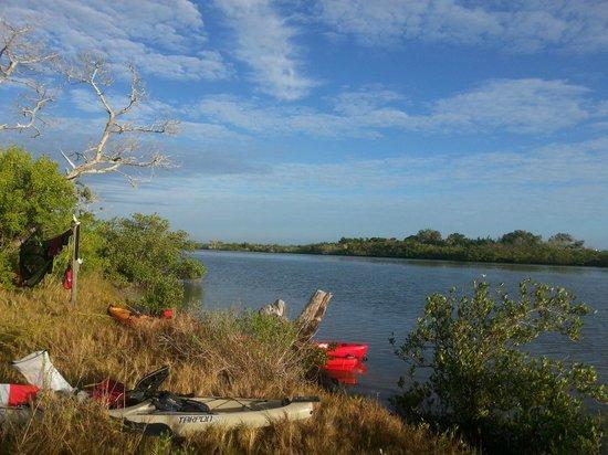 A Day Away Kayak Tours: camp site