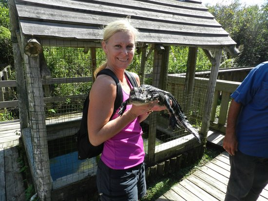 Tigertail Airboat Tours : Better this way than as a hand bag.
