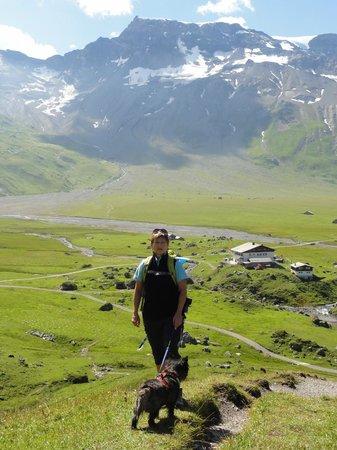 Adelboden: Engstligenalp von der Bergstation der Seilbahn aus