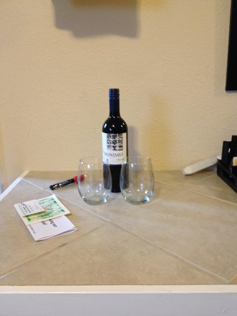 Murphy's River Lodge: Wine in our room
