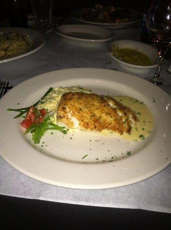 Joseph's Italian Bistro: Parmesan Crusted Grouper with Lemon Blanc