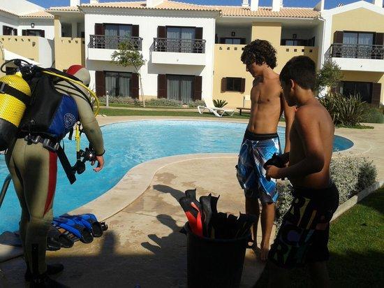 Sagres Time Apartamentos: Batismo de mergulho