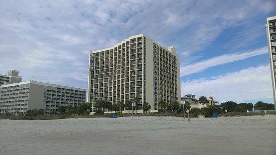 Sea Crest Oceanfront Resort : exterior; view from beach