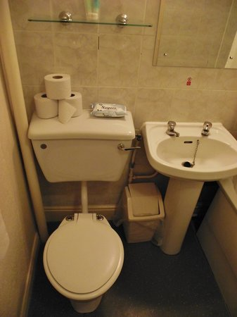 The Grand Hotel - Llandudno : toilet and sink both very clean