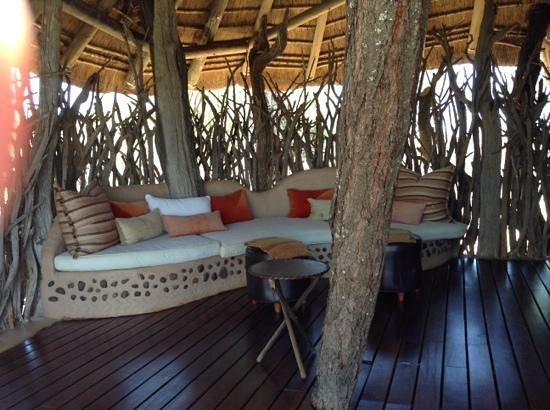 Sanctuary Makanyane Safari Lodge: the balcony