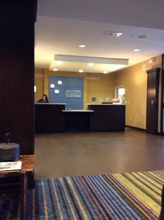 Holiday Inn Express and Suites Colorado Springs First and Main : Front Desk with another amazing front desk staff.