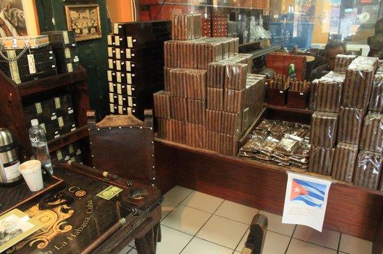 Cuba Tobacco Cigar Co: Piles of cigars!