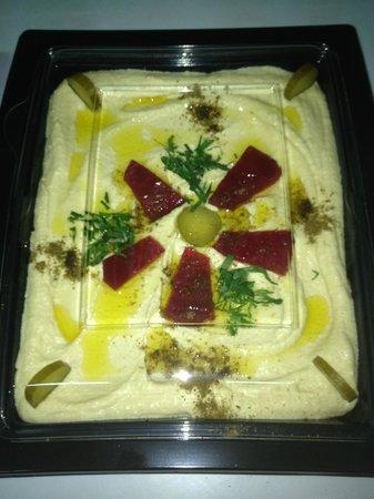 Restaurant Le Libanais : assiette de hommos