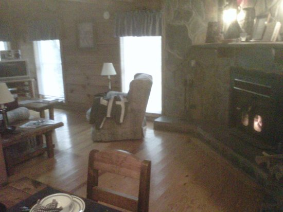 The Last Resort: The fireplace will keep the entire cabin warm.