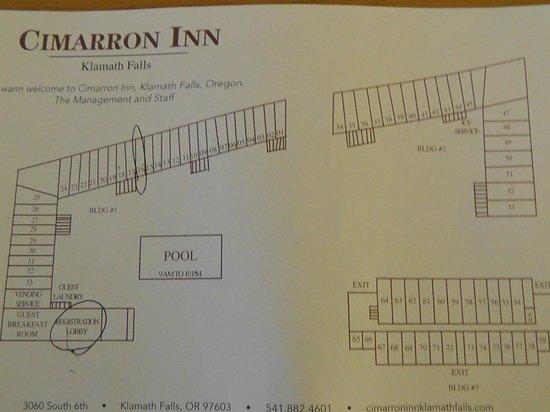 Cimarron Inn Klamath Falls: Raumplan