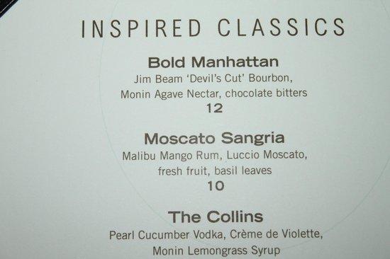 Chart House Drink Menu Get The Manhattan