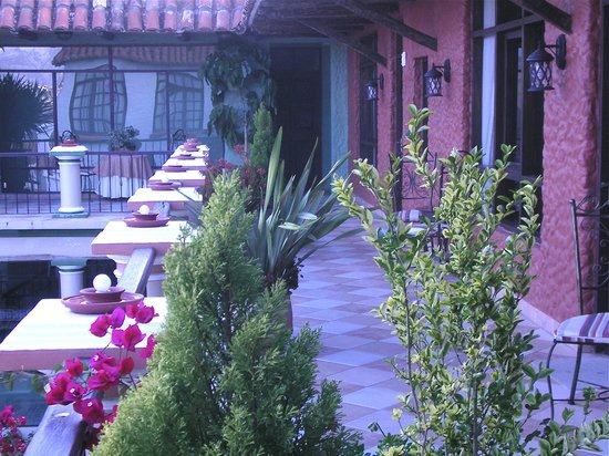 Hotel Boutique Mi Pueblo Samary: Terrace outside room