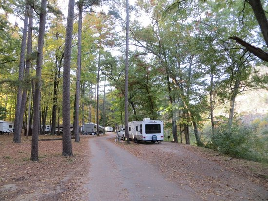 Beavers Bend Resort Park: Beaver Bend Resort State Park - Buckeye campground - Mountain Fork River
