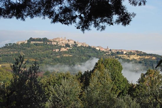Hotel Panoramic : Blick vom Hotel - Montepulciano