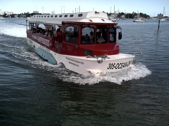 Miami Pirate Duck Tours Latest Generation Trolley Amphibious Boat