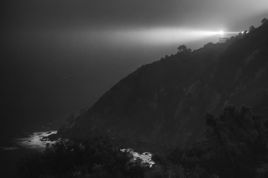 Hotel Leku-Eder: Aussicht bei Nacht und Nebel