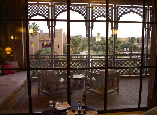 Sahara Palace Marrakech: Looking from bedroom in Palace Luxury Suite