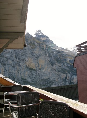 Eiger Guesthouse: view from our balcony