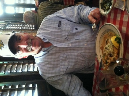 Bon Ton Cafe: Soft-shelled crab topped with lump crabmeat-Awesome!