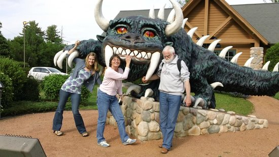 The Hodag greets visitors in Rhinelander, Wisconsin