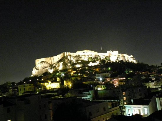 Central Athens Hotel : View from our room at night