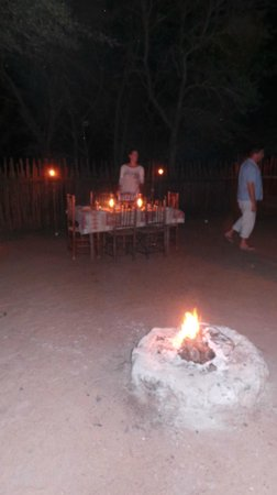 Bushwise Safaris : dinner at Bushwise