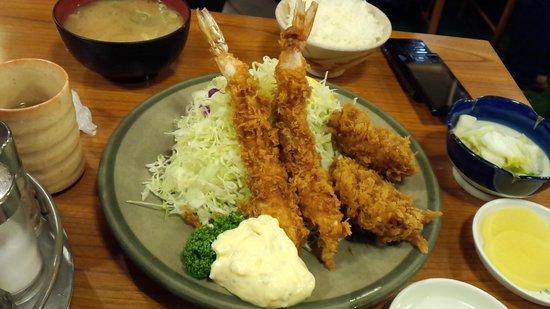 Tonkatsuozeki : エビフライ&ヒレカツ定食