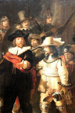 Rijksmuseum: Détail de la Ronde de Nuit - Rembrandt (1642)