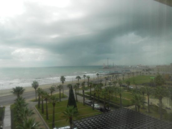 Hotel Galvez & Spa A Wyndham Grand Hotel: View from room, storm in the gulf