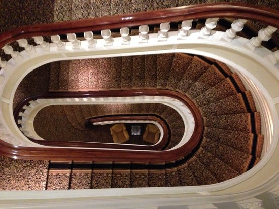 View From Above Of The Huge Sweeping Oval Staircase Picture Of The