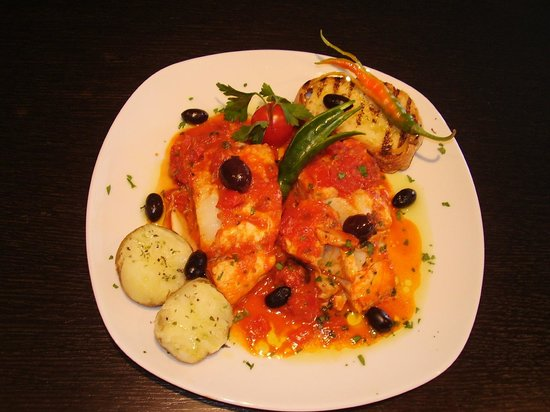 Ristorante Vecchio Mulino: Stocco in umido con olive, patate e peproncino piccante