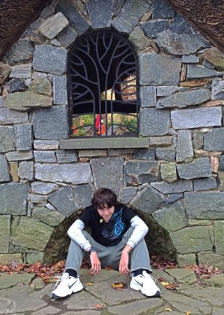 Winterthur Museum, Garden & Library: My son, reminicing at the Enchanted Garden