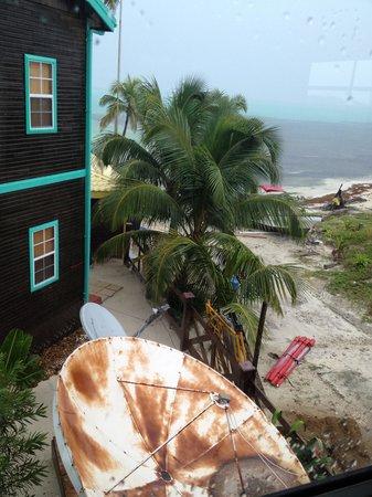 X'tan Ha Resort: view from bedroom window of room 8A to ocean