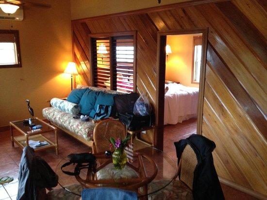 X'tan Ha Resort: living room / bedroom room 8A
