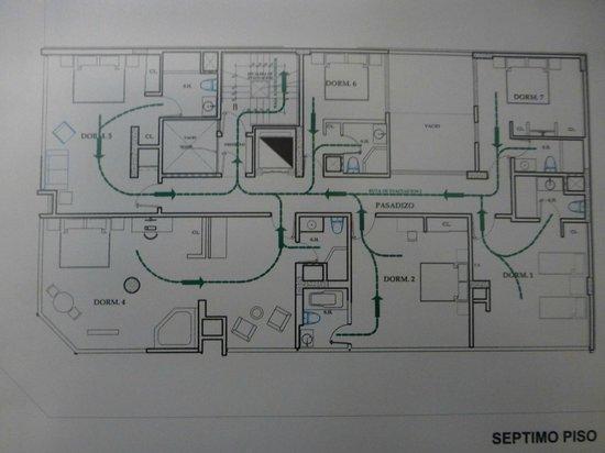 Allpa Hotel & Suites : plan etage 7 ALLPA-Lima