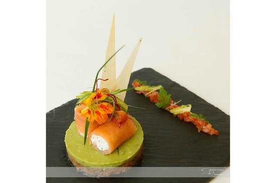 Duo de saumon fum mousse d 39 avocat fa on guacamole - Direct cuisine haguenau ...